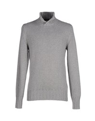 Become Knitwear Turtlenecks Men Grey