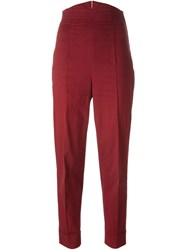 Romeo Gigli Vintage High Waisted Trousers Red