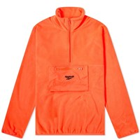 Reebok Half Zip Polar Fleece Sweat Orange