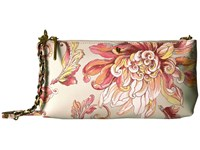 Elliott Lucca Artisan 3 Way Demi Clutch Peach Wildflower Clutch Handbags Multi