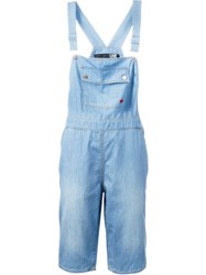 Love Moschino Cropped Dungarees Blue