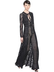 Elie Saab Long Lace Cardigan