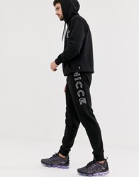 Nicce London Joggers With Large Logo In Black