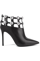 Alexander Wang Tina Studded Leather Ankle Boots Black Usd