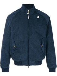 K Way Zipped Bomber Jacket Blue