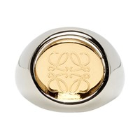 Loewe Silver And Gold Flip Ring