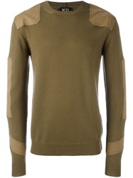 N 21 No21 Panelled Jumper Green