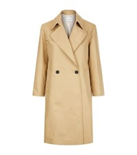 Sandro Wave Trench Coat Female Brown