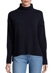 Derek Lam Cashmere Turtleneck Sweater Navy