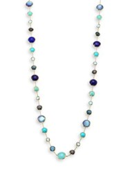 Ippolita Lollipop Lapis Lazuli Opal Amazonite Turquoise Blue Topaz And 18K Yellow Gold Station Necklace Gold Multi