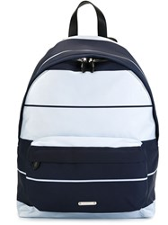 Givenchy Striped Backpack Blue