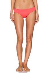 Shoshanna Neon Ruby Hipster Bikini Bottom Orange