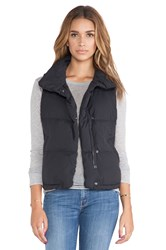 James Perse Down Filled Funnel Neck Vest Black