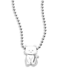 Alex Woo Sterling Silver Kitten Icon Necklace