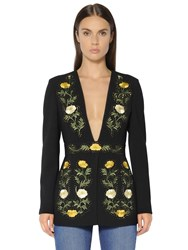 Stella Mccartney Floral Embroidered Double Wool Jacket