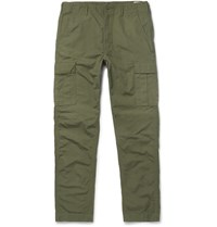 Orslow Cotton Cargo Trousers Green