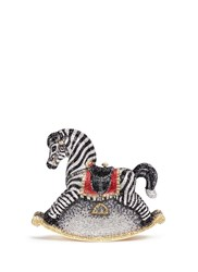 Judith Leiber 'Rocking Horse Toby' Crystal Pave Minaudiere Multi Colour Metallic