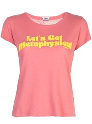 Mother The Boxy Goodie Goodie T Shirt Pink