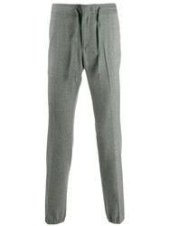 Z Zegna Fitted Sweatpants Grey