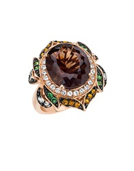 Levian 14Kt. Strawberry Gold Smoky Quartz And Multi Stone Ring Smokey Quartz Multicolor