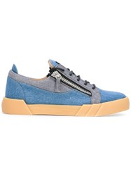 Giuseppe Zanotti Design Denim 'The Shark 5.0 Low' Sneakers Blue