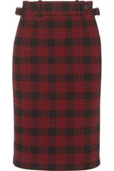 Red Valentino Redvalentino Buckled Checked Tweed Skirt It48