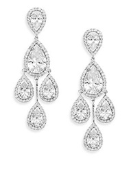 Cz By Kenneth Jay Lane Chandelier Drop Earrings Silver