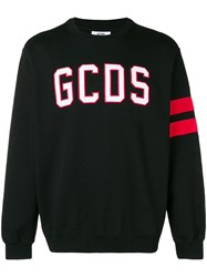 Gcds Logo Print Sweater Black