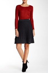 Max Studio A Line Sweater Skirt Gray