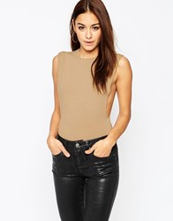 Asos Drop Armhole Body Nude