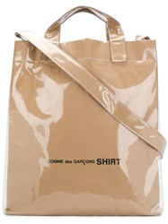Comme Des Garcons Shirt Shopping Tote Bag Nude And Neutrals