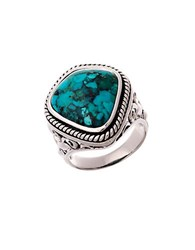 Lord And Taylor Sterling Silver And Faux Turquoise Ring