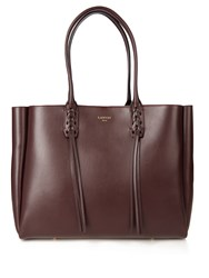 Lanvin Nela Leather Shopper Burgundy