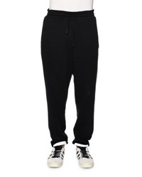 Off White Brushed Stripes Drawstring Sweatpants Black Black White