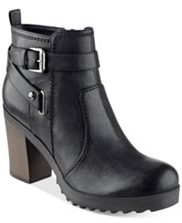 G By Guess Francy Lug Booties Women's Shoes Black