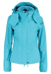 Superdry Light Jacket Bright Aqua Eclipse Navy Blue