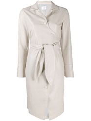 Nanushka Ailsa Button Up Dress Neutrals