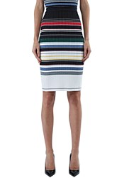 Preen Line Ockie Striped Knit Skirt Black