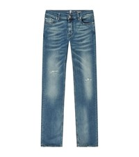7 For All Mankind Ronnie Skinny Ripped Jeans Male Blue