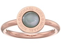 Michael Kors Logo Mother Of Pearl Ring Gold Green Ring