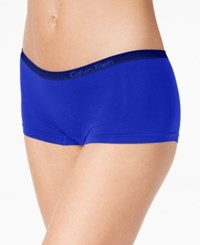 Calvin Klein Seamless Hipster Boyshort Qd3546 Amplified Blue Coastal