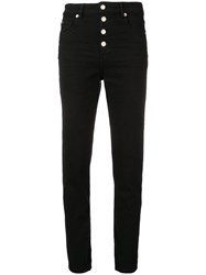 Iro High Waist Fitted Jeans Black