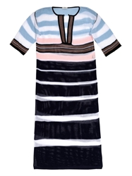 Fendi Striped Crochet Long Kaftan