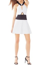 Women's Bcbgmaxazria 'Kerilynn' Cutout Satin A Line Dress