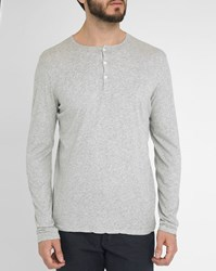 Hartford Marled Grey T Shirt With Tunisian Neck
