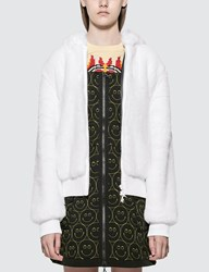 Kirin Haetae Jac Fur Hooded Bomber Jacket White