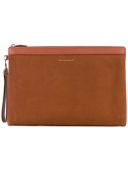 Want Les Essentiels De La Vie Barajas A4 Double Zip Portfolio Men Leather Metal One Size Brown