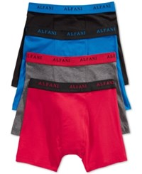 Alfani Men's 4 Pack. Cotton Boxer Briefs Only At Macy's Blue Red
