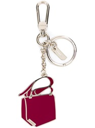 Bally Handbag Keyring Red