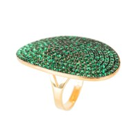 Latelita London St Tropez Ring Gold Emerald Zircon Gold Green